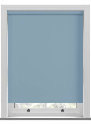 Electric Roller Blinds Bella Blackout Brittany Blue