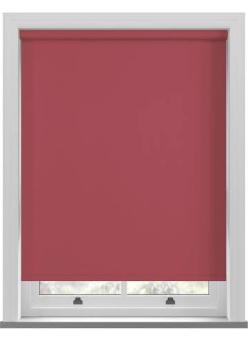 Electric Roller Blinds Bella Blackout Chilli Red