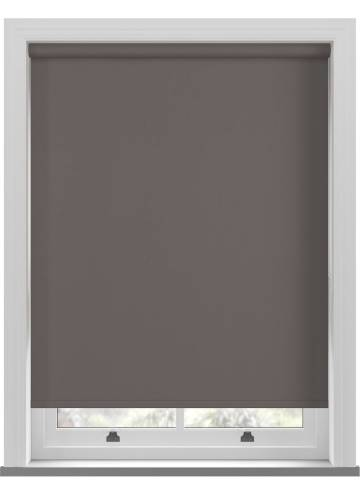Electric Roller Blinds Bella Blackout Chocolate Brown