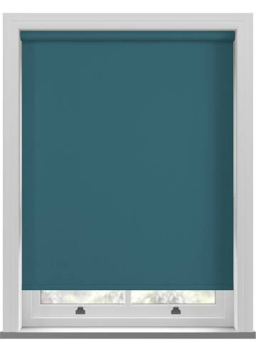 Electric Roller Blinds Bella Blackout Dark Teal Blue