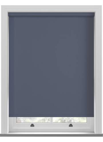 Electric Roller Blinds Bella Blackout Indigo Blue