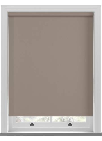Electric Roller Blinds Bella Blackout Latte Brown