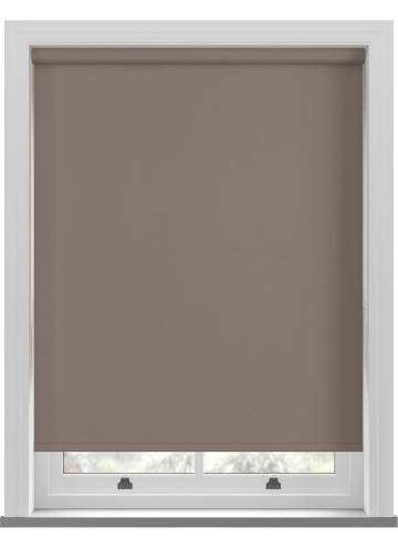 Electric Roller Blinds Bella Blackout Mocha Brown