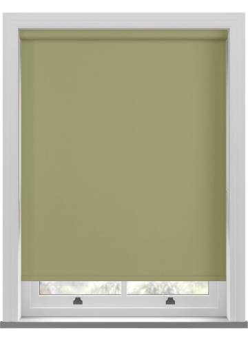 Electric Roller Blinds Bella Blackout Moss Green