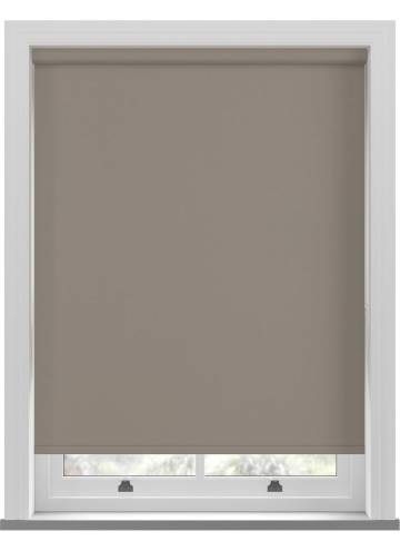 Electric Roller Blinds Bella Blackout Mushroom Brown