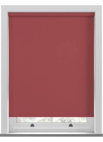 Electric Roller Blinds Bella Blackout Ruby Red