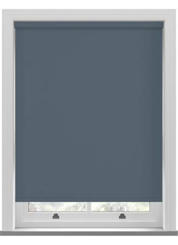 Electric Roller Blinds Bella Blackout Sapphire Blue
