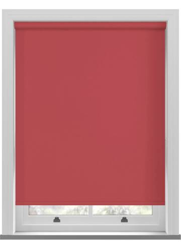 Electric Roller Blinds Bella Blackout Scarlet Red