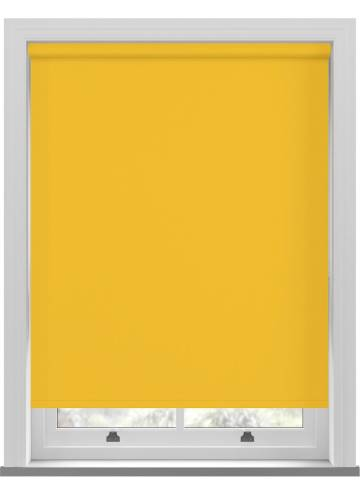 Electric Roller Blinds Bella Blackout Solar Yellow