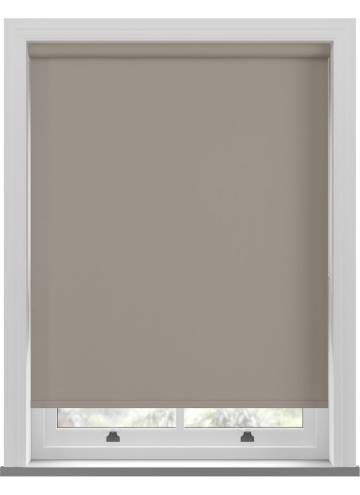 Electric Roller Blinds Bella Blackout Taupe Brown