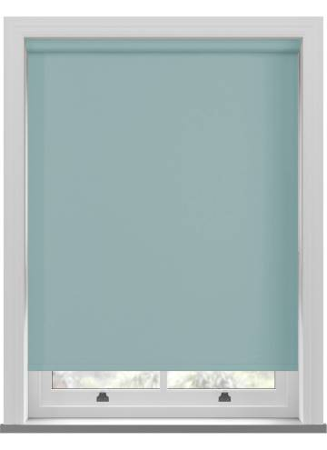 Electric Roller Blinds Bella Blackout Tiffany Blue