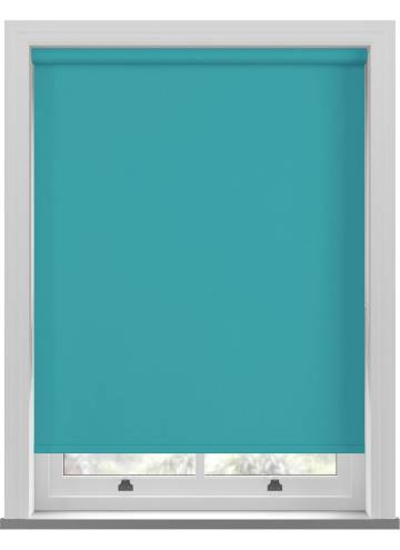 Electric Roller Blinds Bella Blackout Turquoise Blue