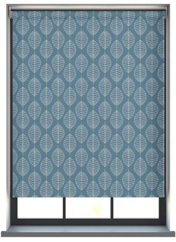Electric Roller Blinds Boheme PVC Blackout Azure Blue
