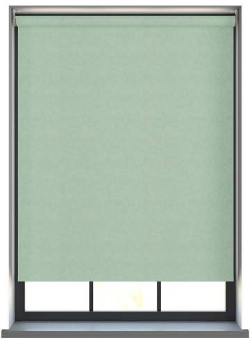 Electric Roller Blinds Isla PVC Blackout Aloe Green