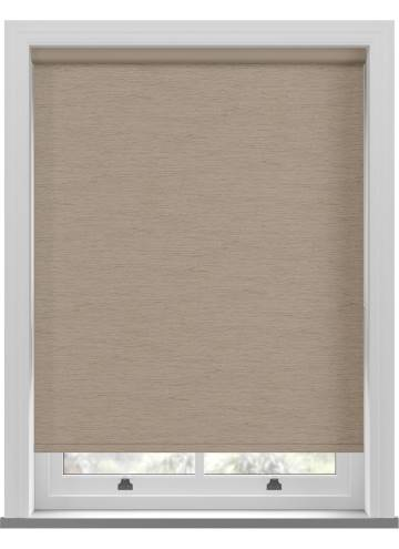 Electric Roller Blinds Lintex PVC Blackout Taupe Brown