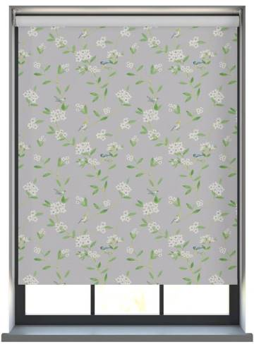 Electric Roller Blinds Loras Blackout Melody Grey
