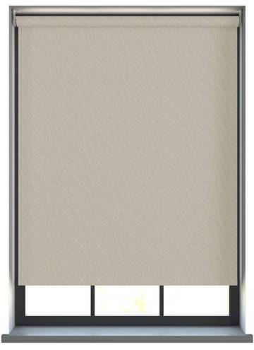 Electric Roller Blinds Luxari PVC Blackout Beige