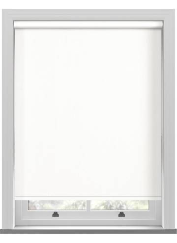 Electric Roller Blinds Marlow Blackout Cotton White
