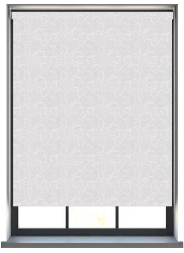 Electric Roller Blinds Metz PVC Blackout Snow White