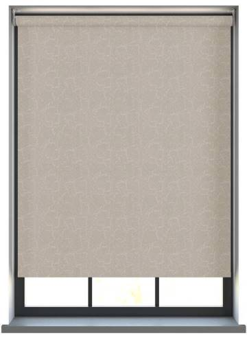 Electric Roller Blinds Metz PVC Blackout Stone Grey