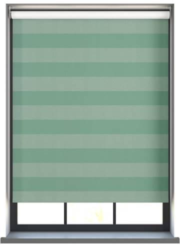 Electric Roller Blinds Midas Stripe Blackout Aqua Green