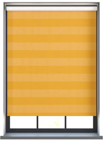Electric Roller Blinds Midas Stripe Blackout Citrine Yellow