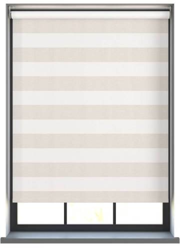 Electric Roller Blinds Midas Stripe Blackout Crystal