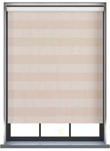 Electric Roller Blinds Midas Stripe Blackout Opal Cream