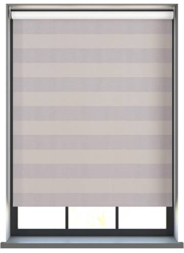 Electric Roller Blinds Midas Stripe Blackout Shadow Grey