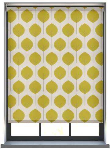 Electric Roller Blinds Musa Saffron Yellow