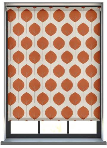Electric Roller Blinds Musa Tigerlily Orange