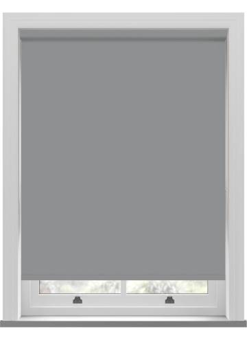 Electric Roller Blinds Oslo Blackout Mid Grey