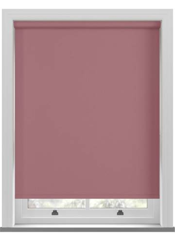 Electric Roller Blinds Oslo Blackout Rosewood Pink