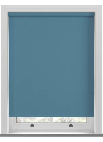 Electric Roller Blinds Oslo Blackout Smoke Blue