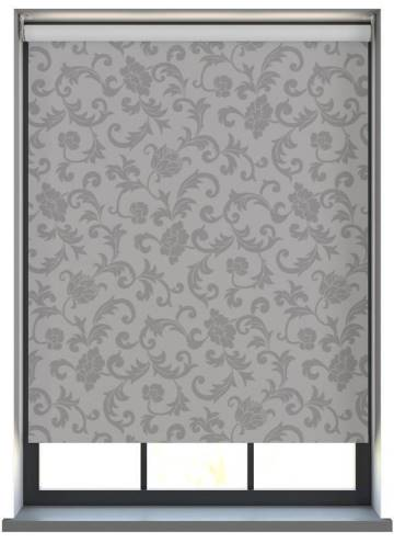 Electric Roller Blinds Palace Blackout Onyx Grey