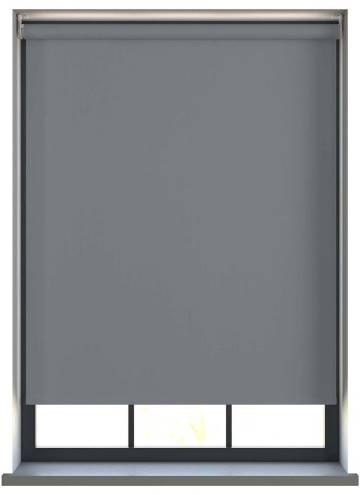 Electric Roller Blinds Prime Blackout FR Charcoal Grey