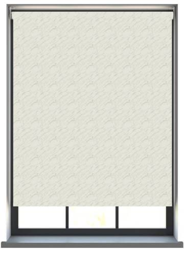 Electric Roller Blinds Sahara PVC Blackout Chiffon Cream