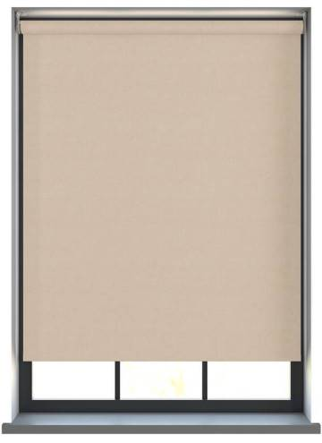 Electric Roller Blinds Samba PVC Blackout Cream