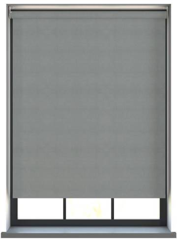 Electric Roller Blinds Samba PVC Blackout Steel Grey