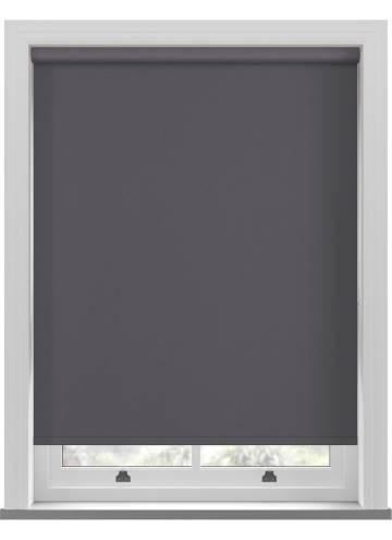 Electric Roller Blinds Shimmer Blackout Granite Grey