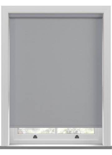 Electric Roller Blinds Shimmer Blackout Mid Grey
