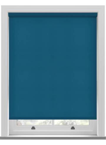 Electric Roller Blinds Splash Azure Blue