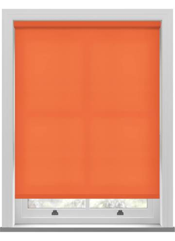 Electric Roller Blinds Splash Bright Orange