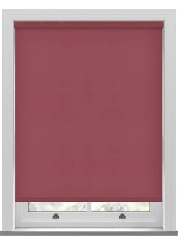 Electric Roller Blinds Splash Chilli Red