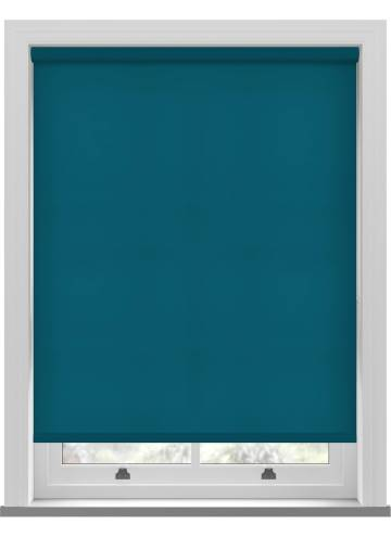 Electric Roller Blinds Splash Dark Teal Blue