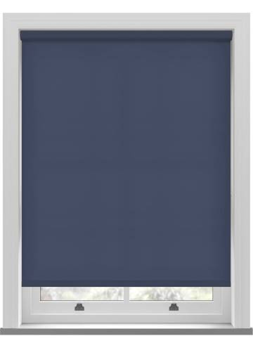 Electric Roller Blinds Splash Indigo Blue