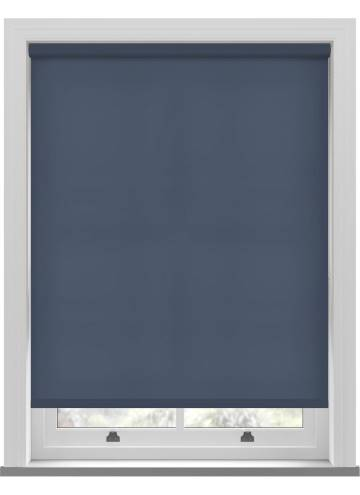 Electric Roller Blinds Splash Midnight Blue