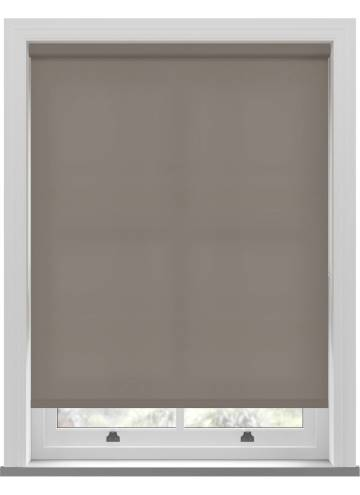 Electric Roller Blinds Splash Mushroom Brown