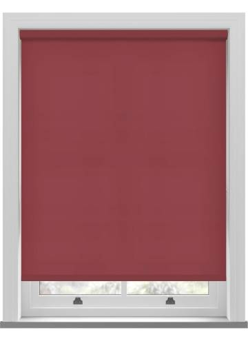 Electric Roller Blinds Splash Ruby Red
