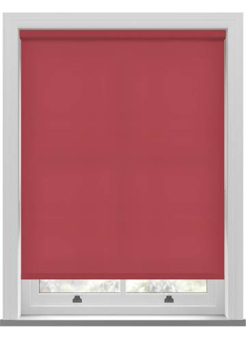 Electric Roller Blinds Splash Scarlet Red